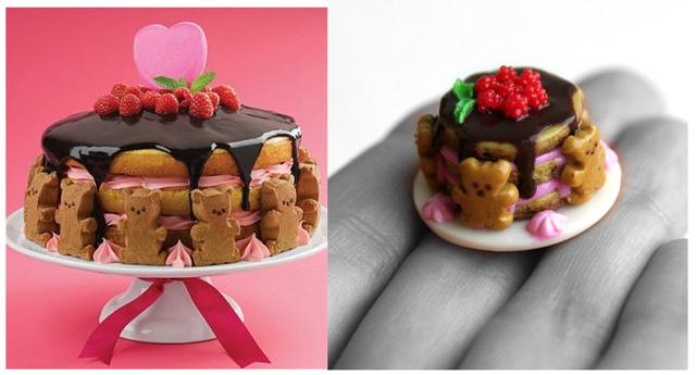 Торт Мишки, фимо, сладости handmadeclub