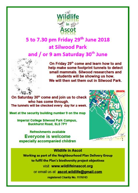 Wildlife in Ascot - 29 June poster