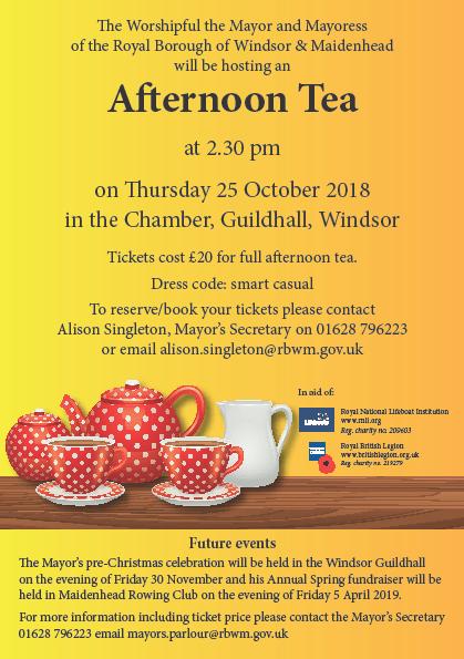 Mayor's Afternoon Tea 25th October 2018