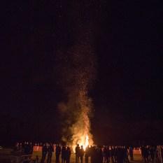 Bonfire built by Scouts