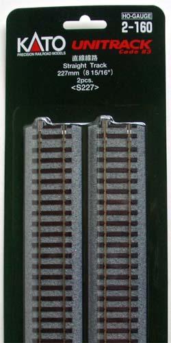 Kato 2 160 227mm 8 15 16 Straight Track S227 2 Pieces