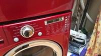 LG TROMM WM2487HRM Washer Repair in San Jose, CA. OE error ...