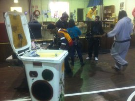 Glebe Youth Centre Sunny Bin music workshop