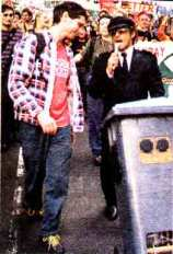 The original Wheelie Bin sound system in protest mode around 2000