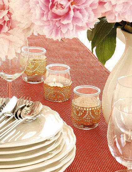 ιδέες διακόσμησης για τραπέζι με κεριά14