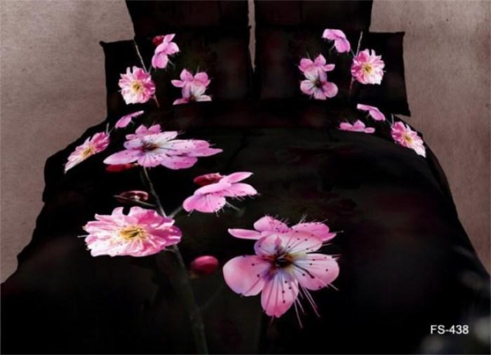 Black-Pink-Flower-font-b-Design-b-font-font-b