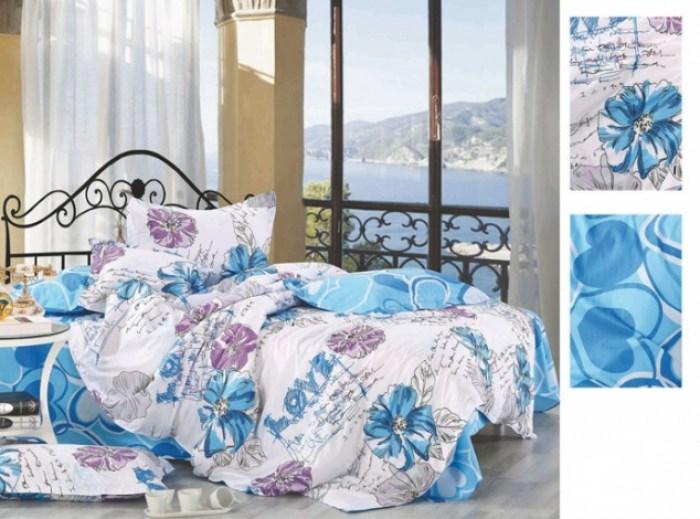 blue_floral_custom_100_cotton_bedroom_colorful_single_flat_bed_sheet_set