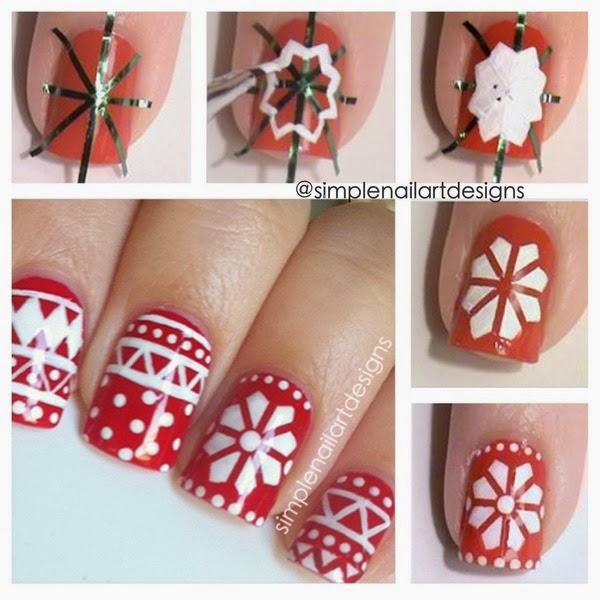Χαριτωμένες DIY Ιδέες τέχνης νυχιών για τα Χριστούγεννα15