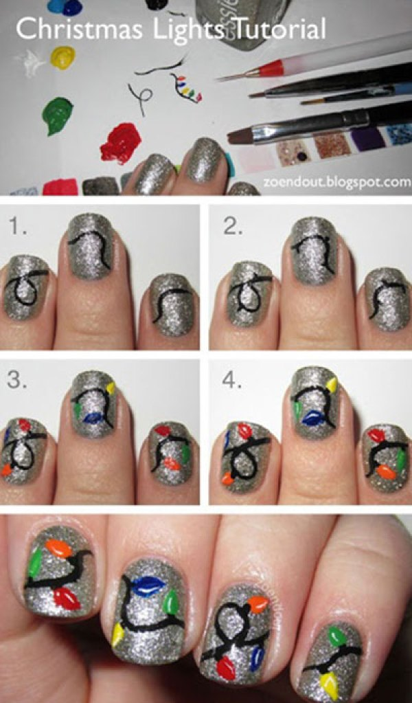 Χαριτωμένες DIY Ιδέες τέχνης νυχιών για τα Χριστούγεννα26