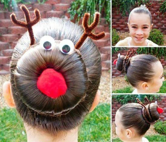 DIY Χτενίσματα για τα Χριστούγεννα4