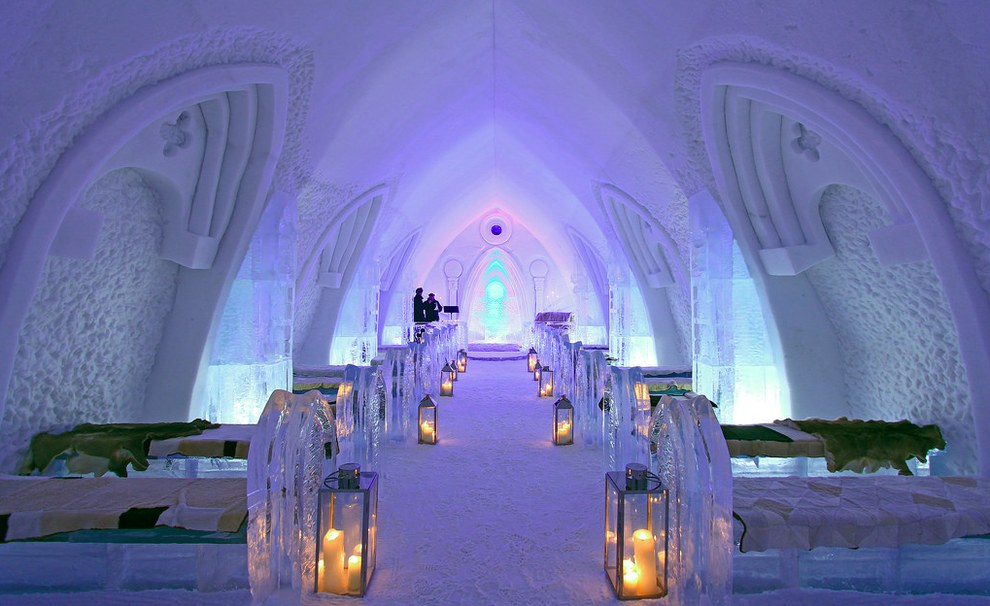 The Hotel de Glace in Quebec bedrooms
