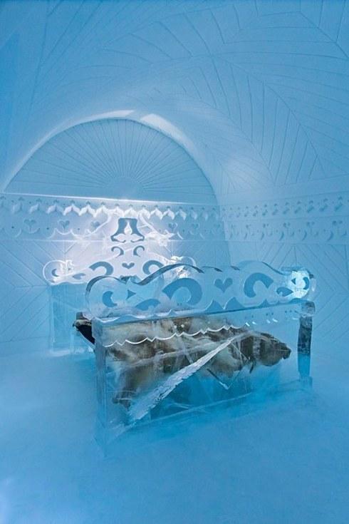The Icehotel in Jukkasjärvi bedroom