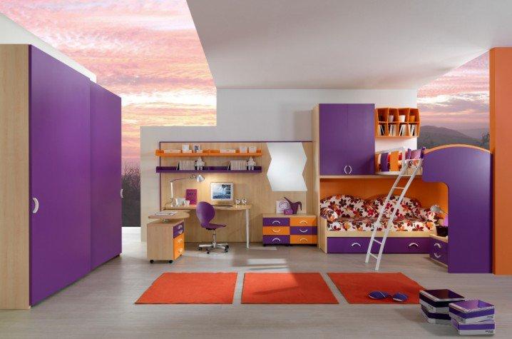 Σχέδια Παιδικού Δωμάτιου για δύο κορίτσια12