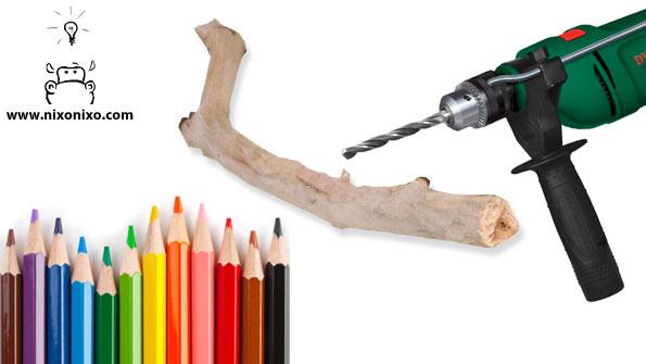 Diy κρεμάστρα με μολύβια5