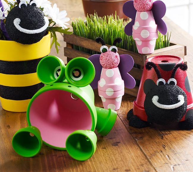 διασκεδαστικές κατασκευές με γλάστρες για τον κήπο10