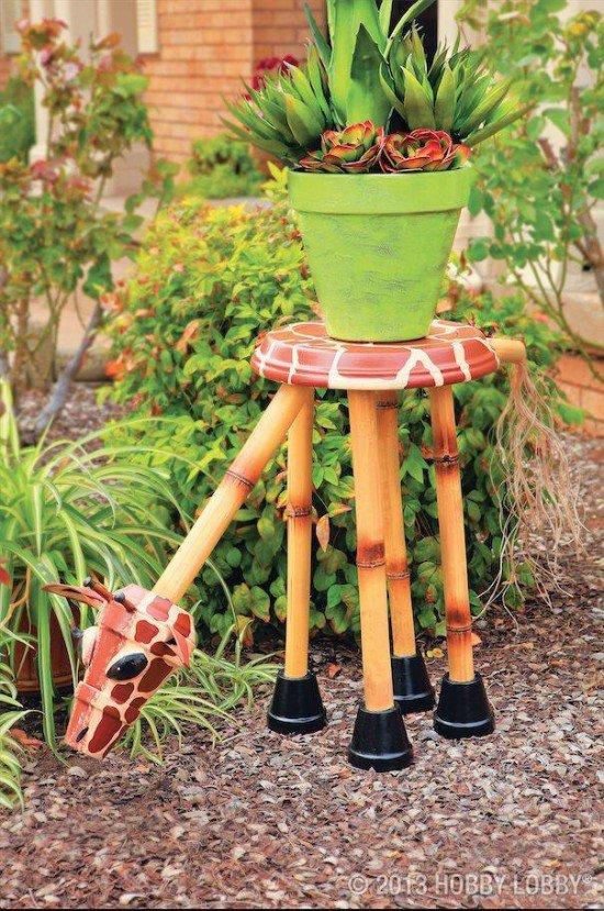 διασκεδαστικές κατασκευές με γλάστρες για τον κήπο6