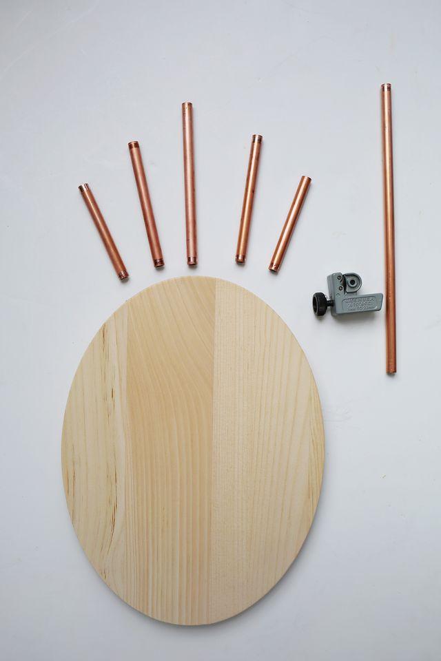 DIY καθρέφτης από χαλκοσωλήνα και ξύλο6