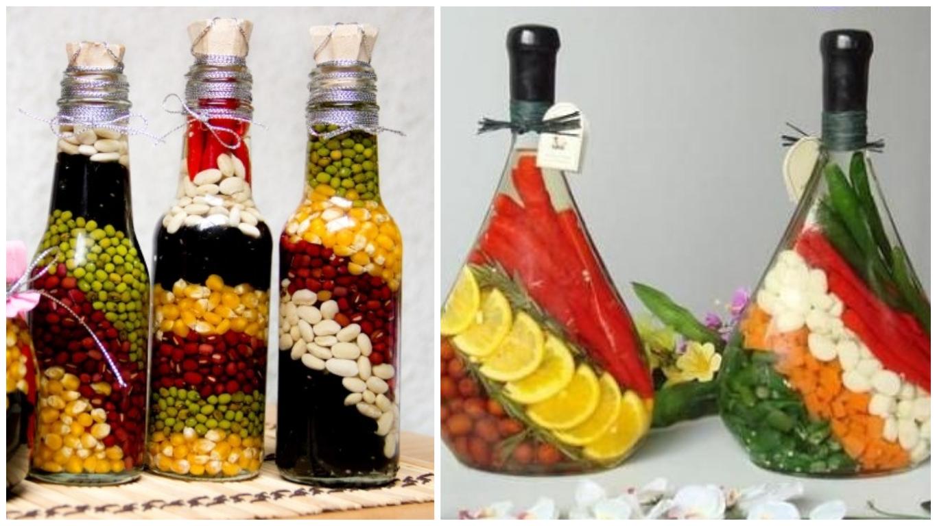Νόστιμη διακόσμηση, από λαχανικά, δημητριακά και Χρωματισμένο αλάτι