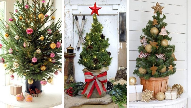 Όμορφες επιτραπέζιες ιδέες για διακόσμηση χριστουγεννιάτικου δέντρου