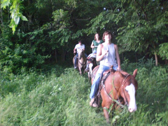 Cody & Zack riding with friends