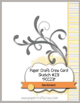 Visit the Paper Craft Crew and play along with the Sketch Challenge 231. #pcc2017 #sketch www.papercraftcrew.com