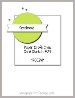 Visit the Paper Craft Crew and play along with the Sketch Challenge 241. #pcc2017 #sketch  www.papercraftcrew.com