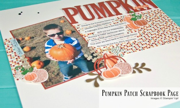 Scrapbook Sunday Blog Hop with Pick A Pumpkin