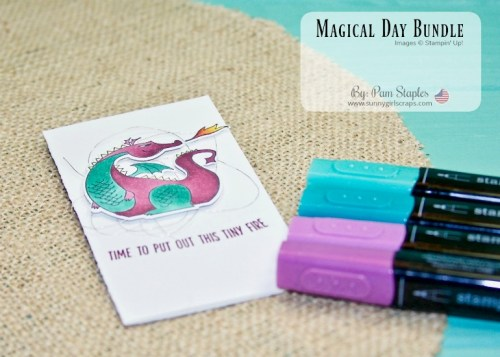 I am featuring the Magical Day Bundle along with the Celebrate You Sale-A-Bration Thinlits. Check out the fun, magical creations on my blog. Order the Magical Day Bundle NOW... Go to www.sunnygirlscraps.com #magicalday #stampinup #osat #sunnygirlscraps #celebrateyou #saleabration #amazingyou #unicorns #dragons #knights