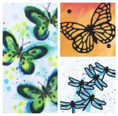Winged Watercolor Card Class