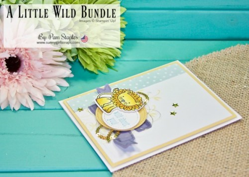 A Little Wild Stamp Set is an adorable stamp set from Stampin' Up! Use the Stampin' Blends to color in the cute little animals such as this Lion. Make Tags or cut in half to get creative. Place YOUR order today for A Little Love Bundle and save 10% on the Stamp Set and coordinating Little Loves Framelits. Go to www.sunnygirlscraps.com #alittlewild #littleloves #stampinup #sunnygirlscraps #handmadecard #bunchofbanners #stitchedshapes #bigshot #becreative #handmadecard #papercraft #papercrafts #creativity #create #creativenation #cards #madewithlove #diy