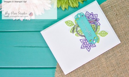 Say Hello… Stitched All Around Best Wishes Card