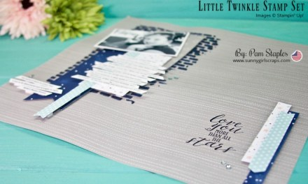 Scrapbook Sunday Sketch with Little Twinkle Stamp Set