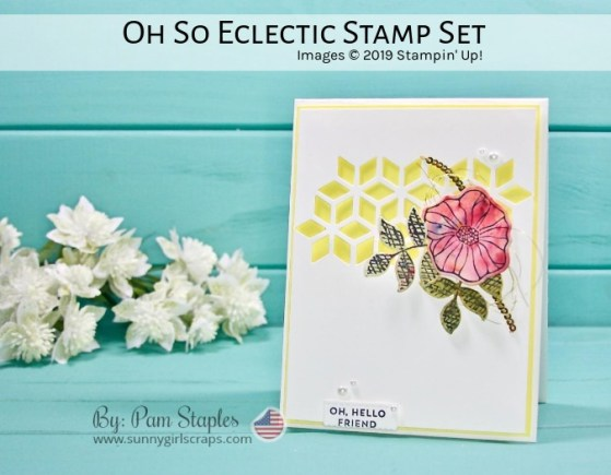 Fairwell to Oh So Eclectic Card featuring Brusho and Shimmery White Cardstock