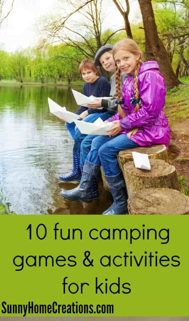 10 fun camping games and activities for kids. These are some fun games!