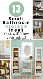 13 small bathroom storage ideas that you will love.