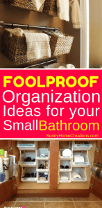 Foolproof organization ideas for your small bathroom.