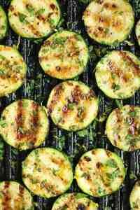 Grilled Garlic Lemon Zucchini