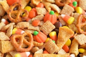 Harvest Hash Chex Mix Halloween Party Food
