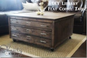 DIY Library Flat Coffee Table