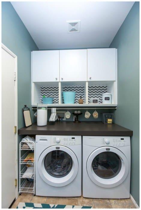 small laundry storage ideas