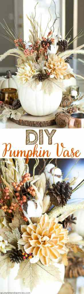 Thanksgiving Table Settings DIY Pumpkin Vase