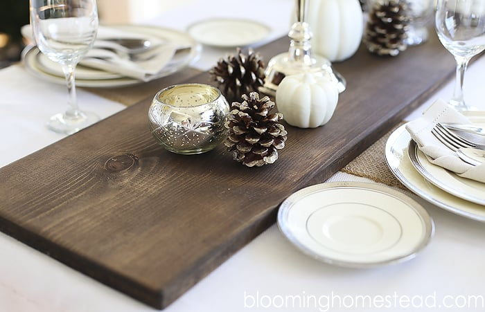 Thanksgiving Table Centerpiece Ideas Wood Runner