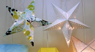 DIY creative Christmas Gifts Paper Star Lantern