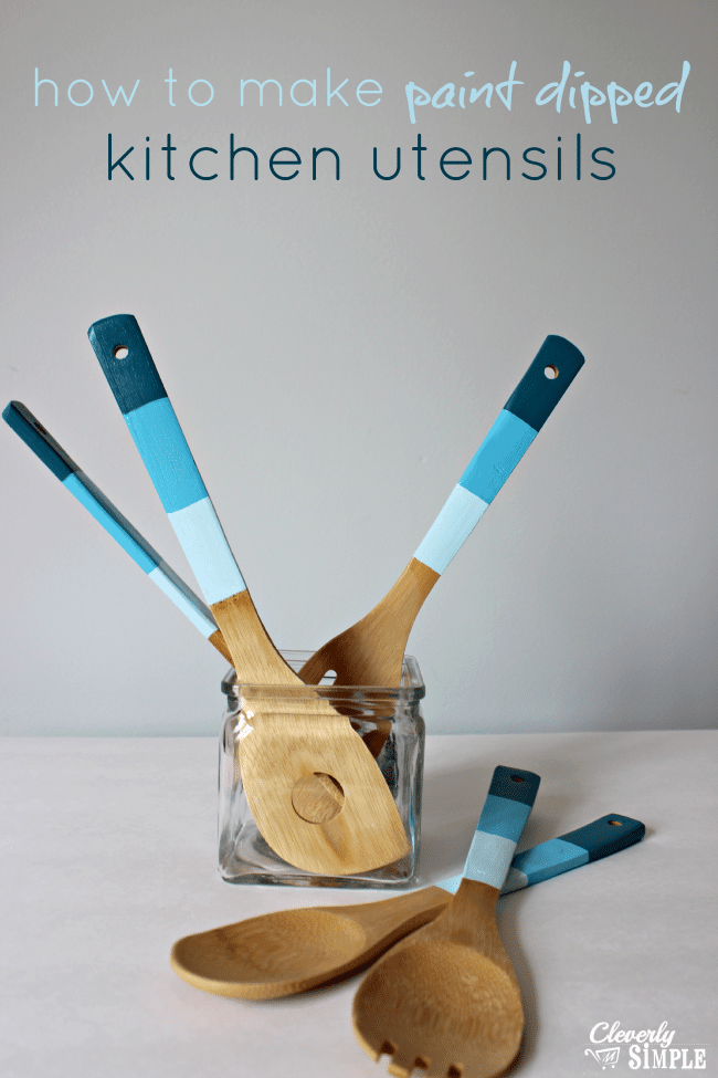 DIY Christmas Gift Ideas Paint Dipped Wooden Spoons
