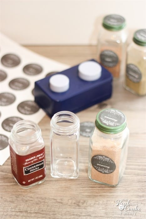 Upcycled Spice jars