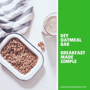 DIY Oatmeal bar for breakfast when camping