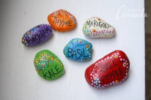 DIY Painted Rock Plant Markers