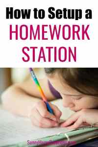 Organization for Your Home: How to Make a Portable Homework Station