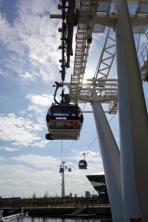 Riding the Emirates Cable Car London