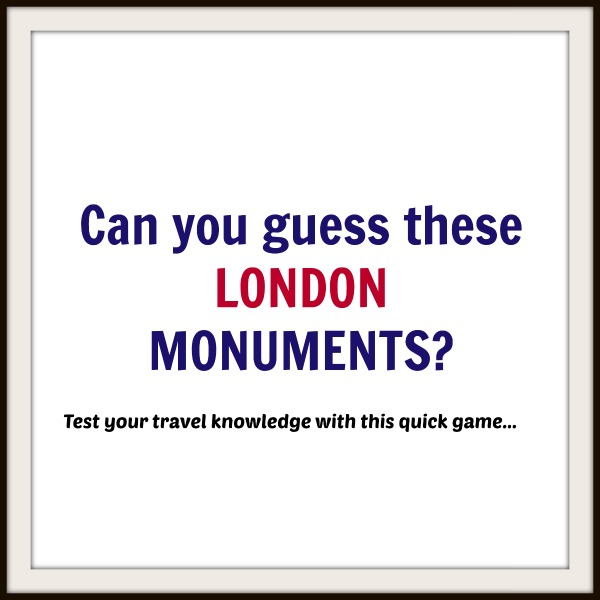 Guess the London Monument Game